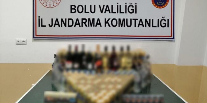 Bolu'da, uyuşturucu ve kaçak içki operasyonu: 4 gözaltı