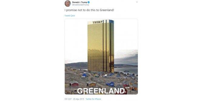 Trump: Söz veriyorum Grönland'a bunu yapmayacağım