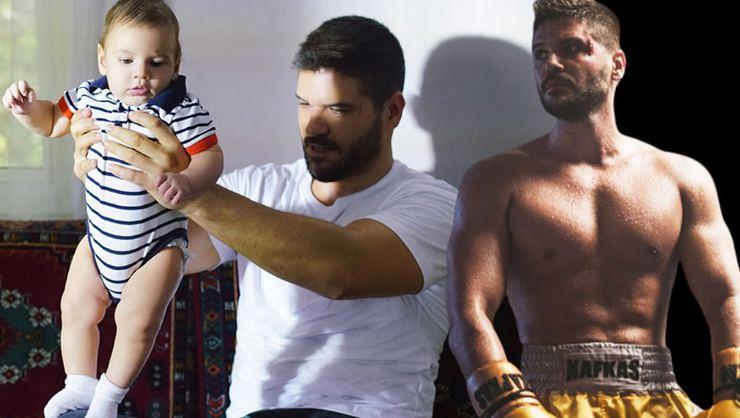 Tolgahan Sayışman'ın 3,5 aylık oğluda oyuncu oldu