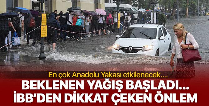 İstanbul'da yağış başladı! İşte Anadolu yakası son dakika hava durumu...
