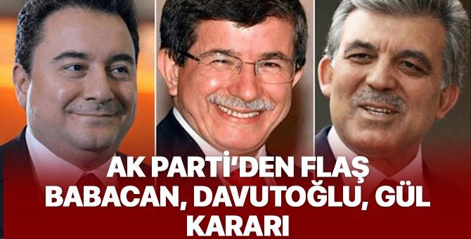 AK Parti'nin 18. yıldönümü etkinliğine Gül, Babacan ve Davutoğlu çağrılmadı