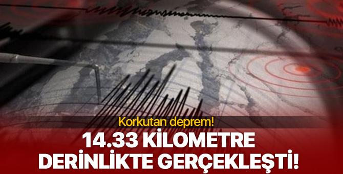 3. 5 şiddetinde deprem meydana geldi