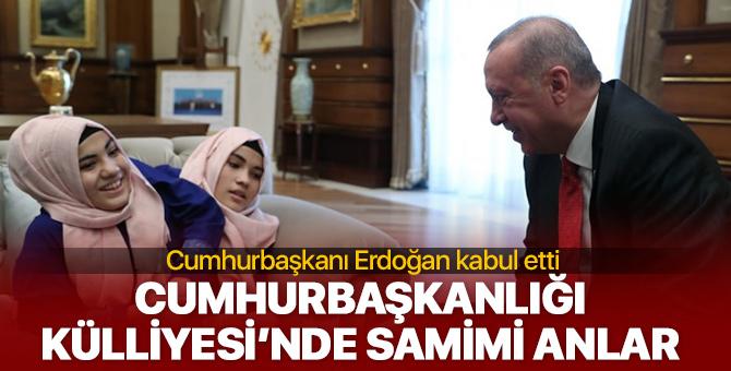 Cumhurbaşkanı Erdoğan kabul etti! Cumhurbaşkanlığı Külliyesi'nde samimi anlar!