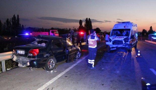Kütahya'da korkunç zincirleme kaza:Ölü ve yaralılar var!