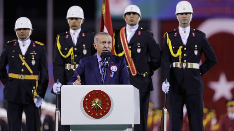 Cumhurbaşkanı Erdoğan subay ve astsubay mezuniyet töreninde konuştu