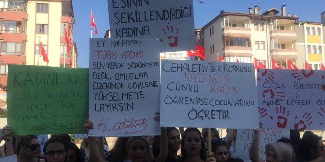 Safranbolu'lu kadınlar Emine Bulut cinayetini protesto etti