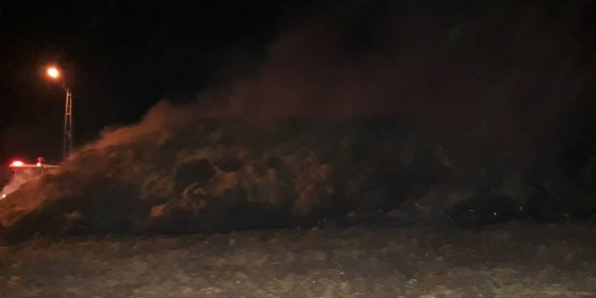 Adıyaman'da 50 ton saman kül oldu