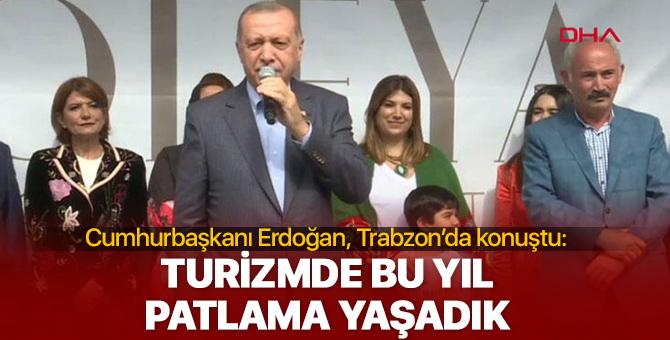 Cumhurbaşkanı Erdoğan, Trabzon'da açıklamalarda bulundu