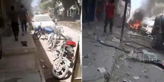 Azez'de patlama: 1 ölü, 11 yaralı