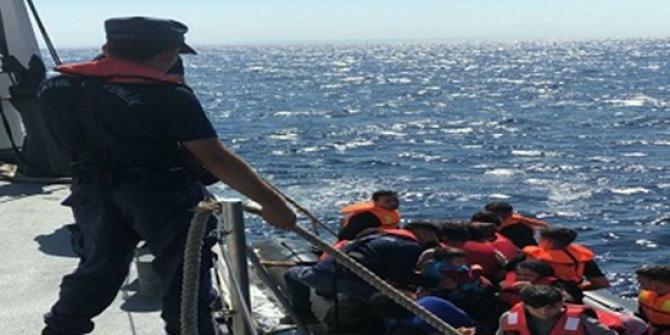 Edirne'de lastik bot içerisinde 32 düzensiz göçmen yakalandı