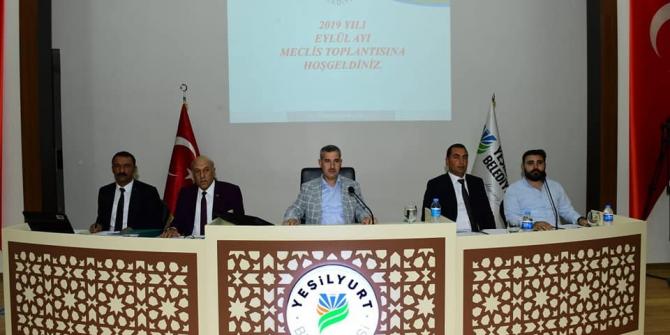 Yeşilyurt Belediye Meclisi Eylül toplantısını yaptı
