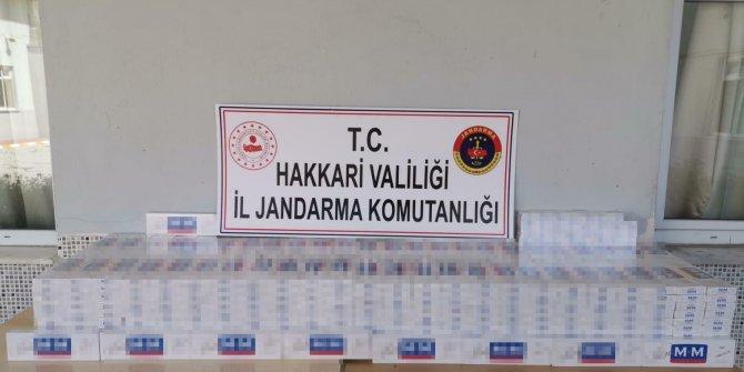Hakkari'de 5 bin paket kaçak sigara ele geçirildi