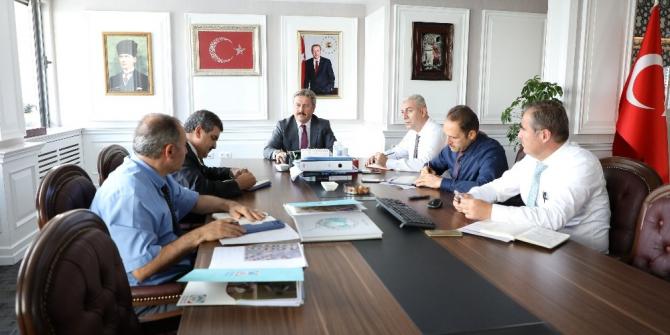 Palancıoğlu, başkan yardımcılarıyla yatırımları değerlendirdi
