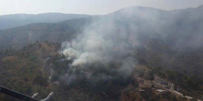 Kemalpaşa'da ormanlık alanda yangın