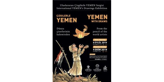 """Türkiye Diyanet Vakfından """"Uluslararası Çizgilerle Yemen"""" sergisi"""