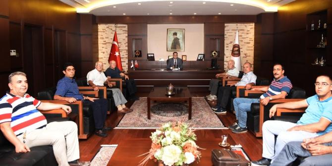 Başkan Ünverdi'ye dericilerden ziyaret