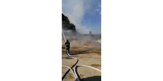 Gaziantep'teki dev besi çiftliğinde yangın