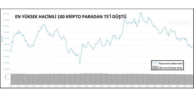 KRİPTOPARA – En büyük 100'den 75'i düştü