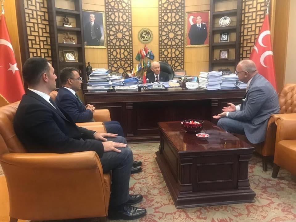 Manisa Büyükşehir Belediye Başkanı Ergün MHP Lideri Bahçeli'yi ziyaret etti
