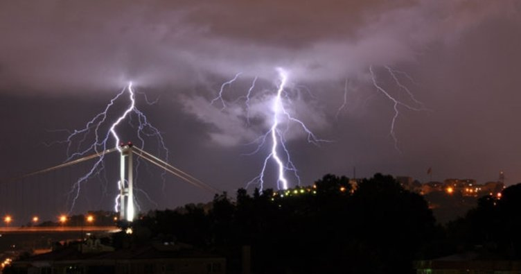 Meteoroloji saat vererek uyardı: Gök gürültülü sağanak  yağış geliyor!