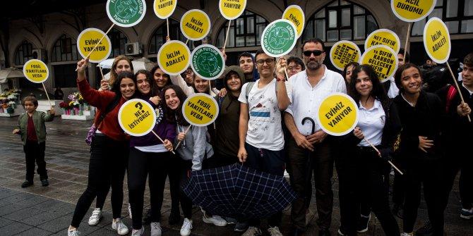 / Fotoğraflar / Kadıköy'de 'Küresel İklim Grevi'ne destek