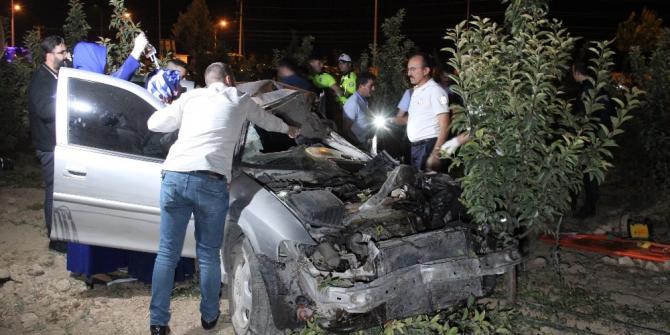 Karaman'da trafik kazası: 1'i ağır 4 yaralı