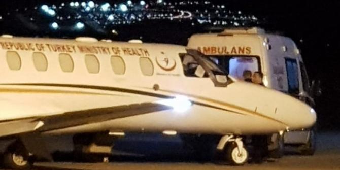 Ambulans uçak 76 yaşında hasta için havalandı