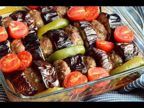 Fırında Köfteli Patlıcan Kebabı | Gelinim Mutfakta Fırında Köfteli Patlıcan Kebabı