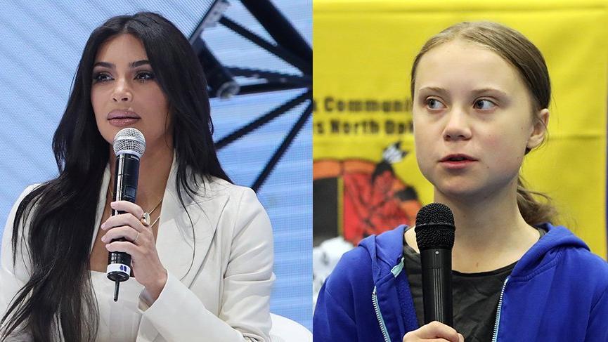 Kim Kardashian'dan Greta Thunberg'e akşam yemeği daveti