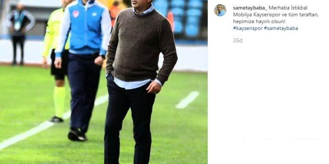 Kayserispor'un yeni teknik direktörü Samet Aybaba oldu