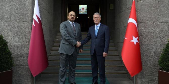 Millî Savunma Bakanı Akar, Katar Savunma Bakanı Attiyah ile telefonda görüştü