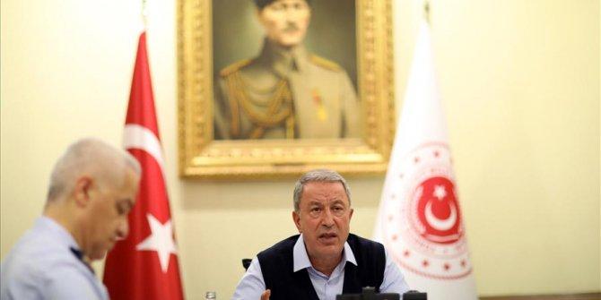 Bakan Akar, ABD'li mevkidaşı ile telefonda görüştü
