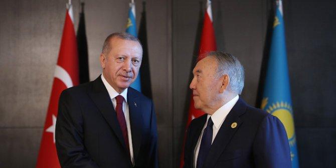 Erdoğan, Kazakistan'ın Kurucu Cumhurbaşkanı Nazarbayev ile görüştü