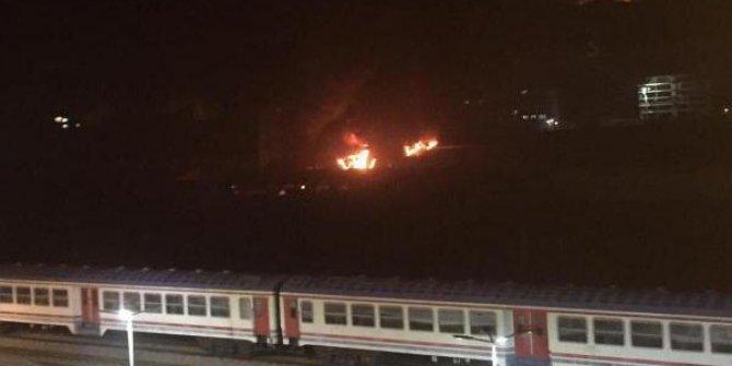 Karabük'te kereste fabrikasında yangın