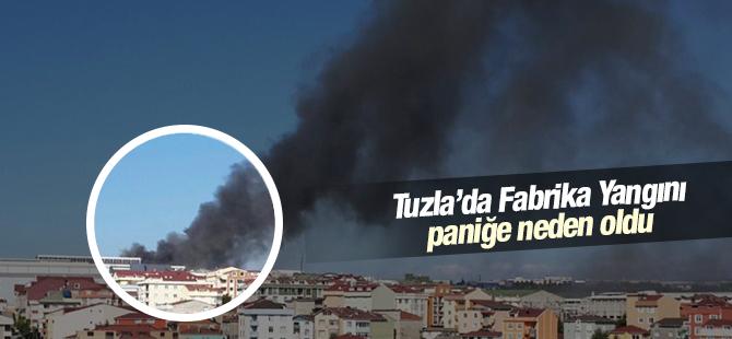 Ham madde Fabrikası Yangını Paniğe Neden Oldu