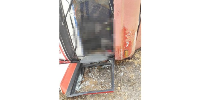 Moloz dökerken kamyonun devrilmesi sonucu öldü