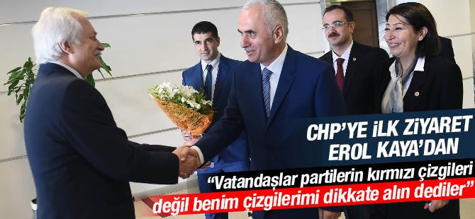 AK Parti'nin ilk bayram ziyaretini CHP'ye Erol Kaya yaptı