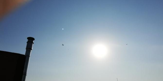 Irak üzerinden gelen ABD konvoyuna helikopterler eşlik etti