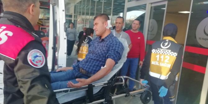 Yorgun mermiyle 2 kişi yaralandı