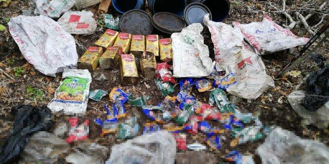 Amanoslarda PKK'ya ait yaşam malzemeleri ele geçirildi