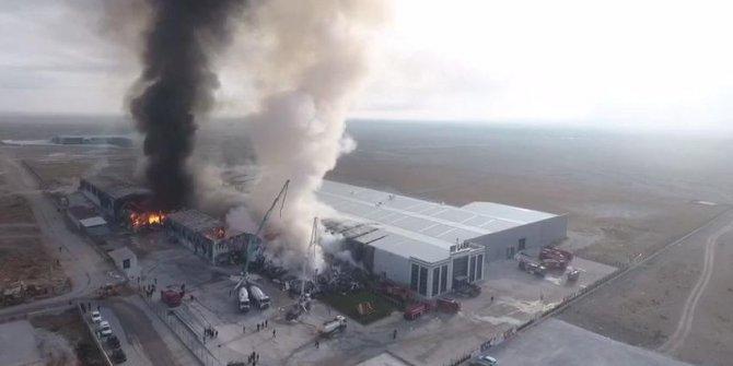 Ereğli'de fabrikada yangın çıktı(1)