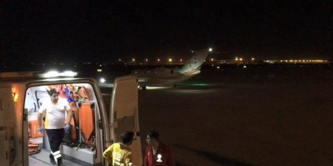 Ukrayna'da kazada ağır yaralandı, ambulans uçakla Bursa'ya getirildi