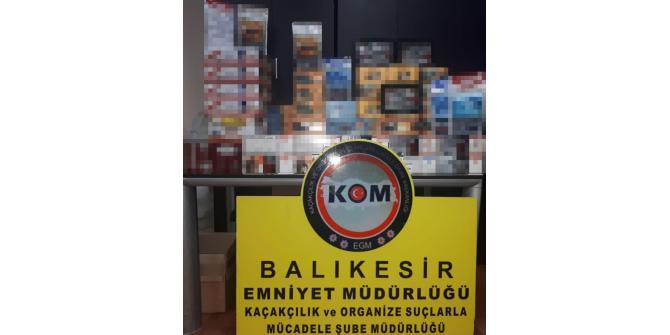 Balıkesir'de kargoyla tütün kaçakçılığına operasyon