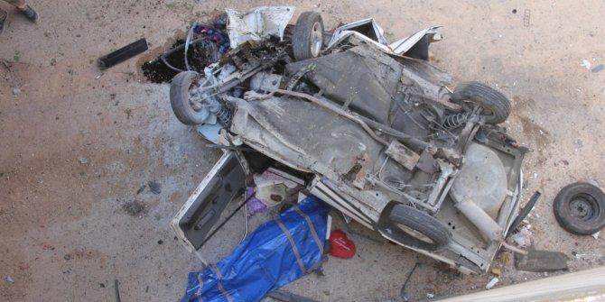 Otomobil alt geçide düştü: 1 ölü, 3 yaralı