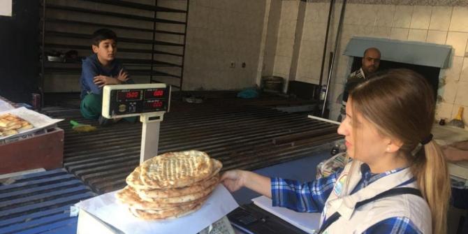 Gaziantep'te ekmek gramaj denetimleri