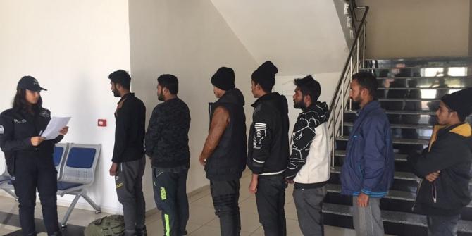 Gaziantep'te 7 kaçan göçmen yakalandı