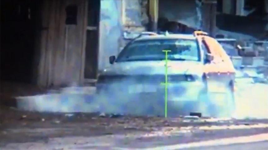 Tel Abyad'da bomba taşıyan bir araç imha edildi!