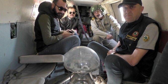Aydın'da, söndürme helikopteri ile keşif uçuşu yapıldı
