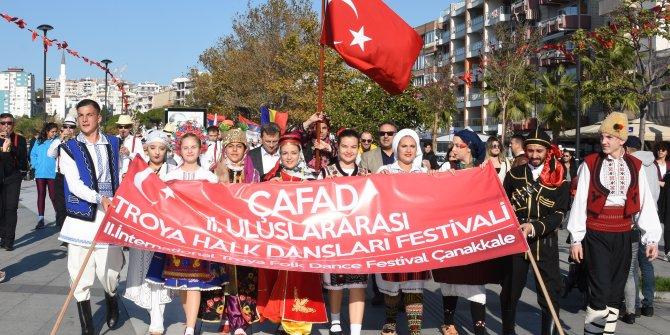 2'nci Uluslararası Troya Halk Dansları Festivali başladı