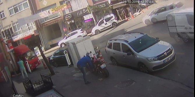 Motosiklet hırsızlarına böyle engel oldu